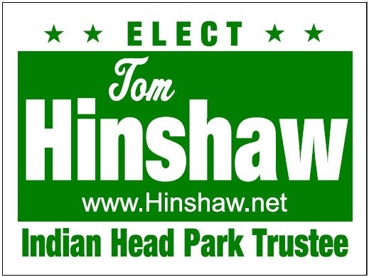 Tom Hinshaw yard sign
